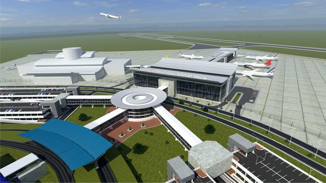 Rendering of the Nnamdi Azikiwe Airport Terminal