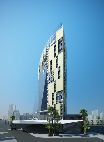 Rendering of the Cosimo Hotel/Apartments